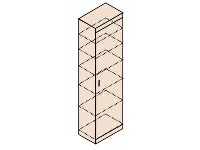 Ника Н22 Шкаф для белья 600х379х2221 (сборка на обе стороны)