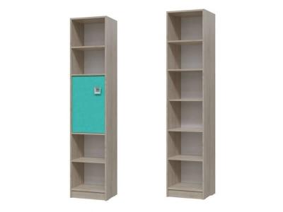 Шкаф стеллаж с дверкой Сити Аква 6-9413