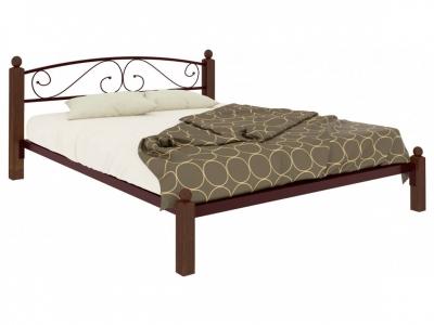 Кровать Вероника Lux коричневая