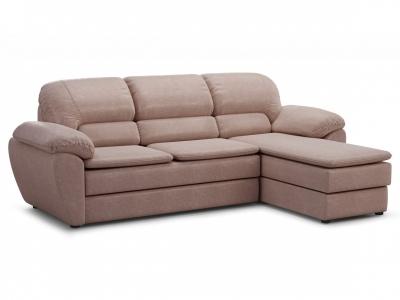 Угловой диван Бергамо с оттоманкой Richie/caramel