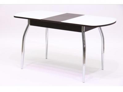 Стол Гала 2 лдсп венге + стекло белое