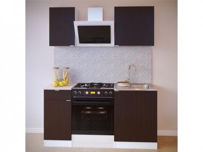 Прямой кухонный гарнитур Сокол 1000 Венге