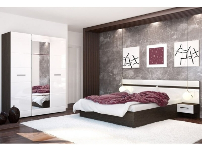 Спальня Ненси Венге-Белый глянец