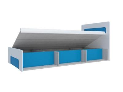 Кровать с подъемным механизмом Палермо-Юниор синяя вставка 960х900х2048 мм