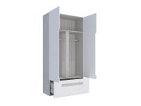 Шкаф 2-х створчатый с ящиками Палермо-Юниор зеленая вставка 1068х2110х445 мм