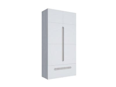 Шкаф 2-х створчатый с ящиками Палермо-Юниор белый глянец 1068х2110х445 мм