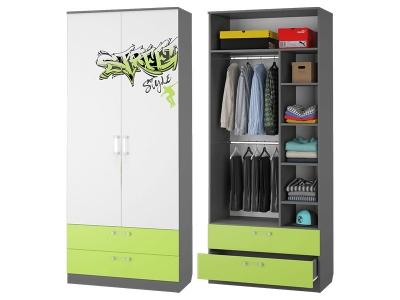 Шкаф для одежды с 2-мя ящиками Граффити