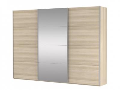 Шкаф-купе 3-х дверный Прайм ДСП/Зеркало/ДСП Сонома