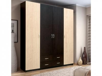 Шкаф 4-х дверный с 2-мя ящиками Венеция 11