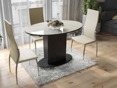Стол обеденный со стеклом Марсель СМ(Б)-102.02.12 Венге, стекло