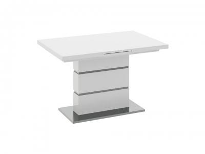Стол раздвижной со стеклом Амстердам 107.01.13 Белый