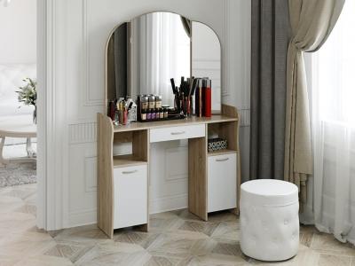 Стол туалетный София Т2 Дуб Сонома, Белый