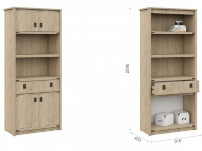 Шкаф для детской Валенсия 4д1ящ Дуб сонома