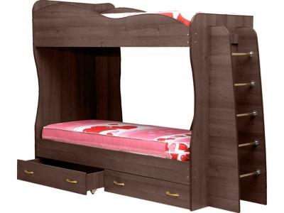 Кровать детская двухъярусная Юниор-1 Ясень шимо темный